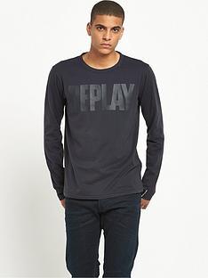 replay-logo-long-sleeve-t-shirt