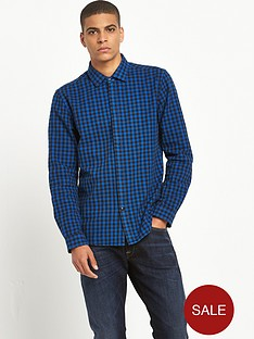 replay-long-sleeved-checked-shirt