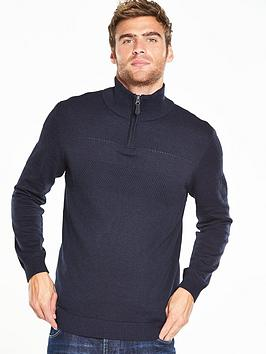 v-by-very-textured-zip-neck-jumper