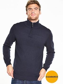 v-by-very-textured-zip-neck-jumper