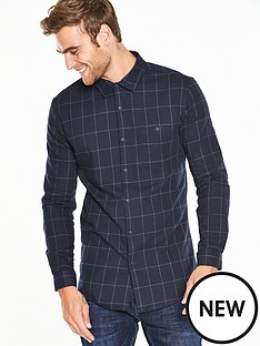 v-by-very-long-sleeve-flannel-check-shirt