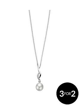 elements-sterling-silver-cubic-zirconianbspand-pearl-twist-pendant