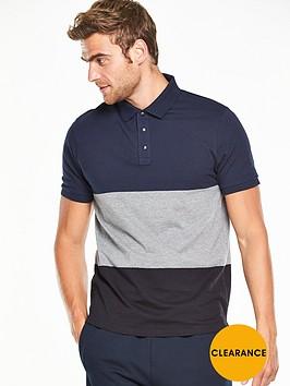 v-by-very-short-sleeve-colour-block-polo