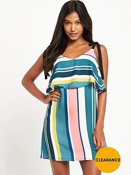 miss-selfridge-stripe-bow-double-layer