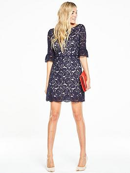oasis-lace-bell-sleeve-shiftnbsp