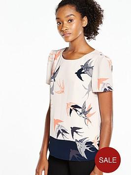 oasis-bird-print-patched-formal-t-shirtnbsp