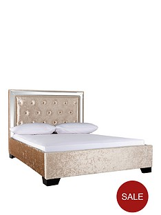 broadway-double-bed-and-headboard-with-optional-mattress-gold