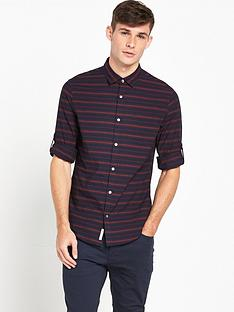 original-penguin-penguin-horizontal-stripe-shirt-with-roll-cuff