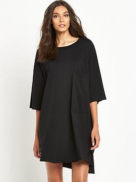 replay-oversized-pocket-t-shirt-dress-black