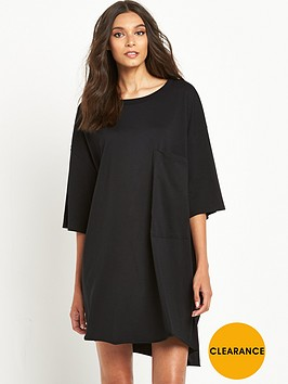 replay-oversized-pocket-t-shirt-dress-black