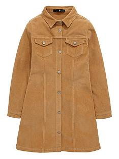 v-by-very-girls-corduroy-button-through-brittany-dress