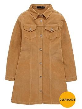 v-by-very-girls-corduroy-button-through-brittany-dress