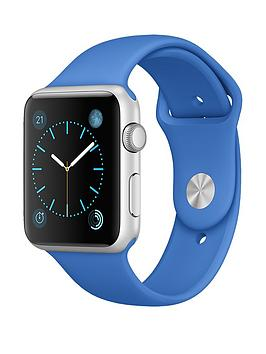 apple-watch-42mm-silver-aluminium-case-with-royal-blue-sport-band