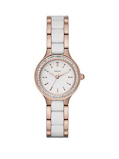 dkny-chambers-white-dial-two-tone-rose-tone-ceramic-bracelet-ladies-watch