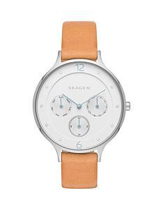 skagen-anita-white-dial-silver-tone-case-leather-strap-ladies-watch