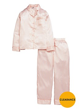v-by-very-girls-satin-candy-stripe-pyjamas