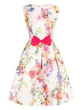 little-misdress-girls-floral-bow-waist-dress