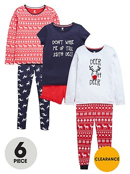 v-by-very-girls-fairislenbspchristmas-pyjamas-set-6-piece