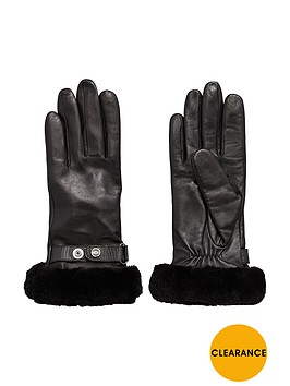 ugg-leather-belted-smart-glove