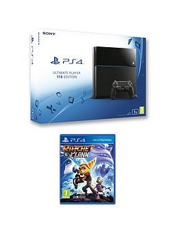 playstation-4-1tb-console-with-ratchet-clank-plus-optional-extra-controller-andor-12-months-playstation-network