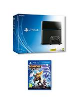 500Gb Console with Ratchet and Clank and Optional Extra Controller and 12 Months PSN Subscription