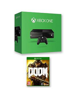 xbox-one-500gb-console-with-doom-and-optional-extra-controller-andor-12-months-xbox-live