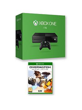 xbox-one-1tb-console-with-overwatch-and-optional-extra-controller-12-months-xbox-live-subscription
