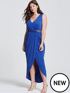 little-mistress-curve-v-neck-embellished-detail-wrap-front-dress-blue