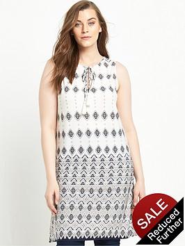 so-fabulous-tassel-tie-border-print-tunic-top
