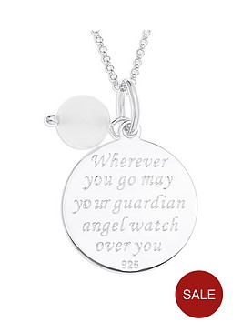 the-love-silver-collection-sterling-silver-and-white-agate-bead-angel-message-pendant