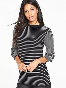 v-by-very-high-neck-stripe-compact-knit-jumpernbsp