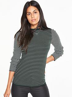 v-by-very-high-neck-striped-jumper