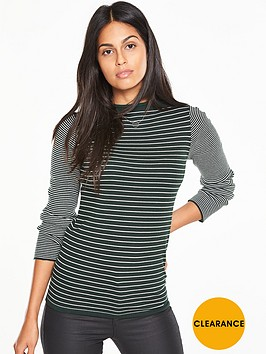 v-by-very-high-neck-striped-jumper