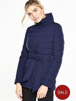 guess-elysianbspjacket-with-tie-belt-navy
