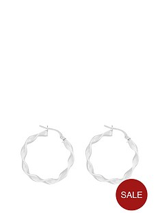 the-love-silver-collection-sterling-silver-20mmnbsptwistednbsphoop-earrings