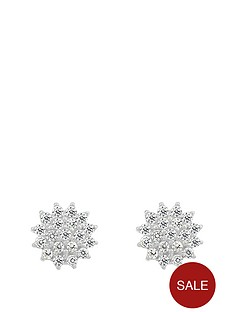 the-love-silver-collection-sterling-silver-cubic-zirconia-cluster-earrings