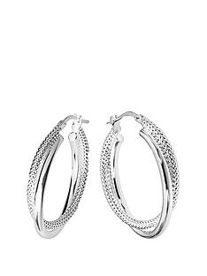 the-love-silver-collection-sterling-silver-double-hoop-earring
