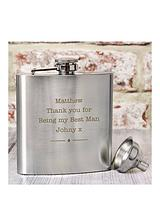 Personalised Stainless Steel Hipflask
