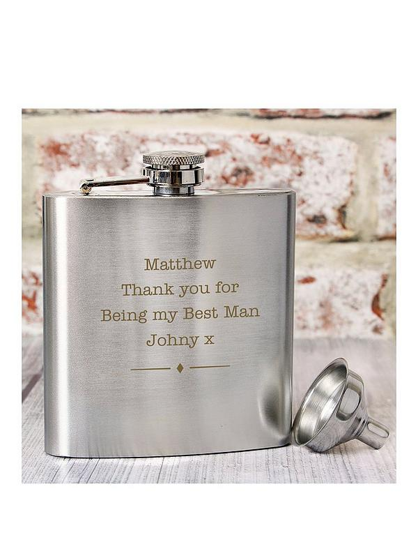 Telephone Box 6oz Hip Flask Personalised British Gift Boxed FREE ENGRAVING 365