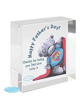 Personalised Super Dad Fathers Day Crystal Token
