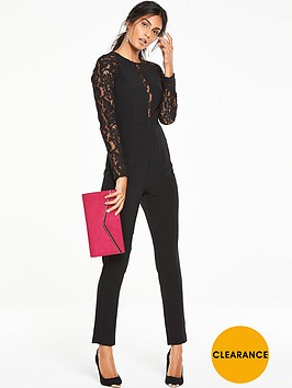 v-by-very-lace-detail-slim-leg-jumpsuit-black