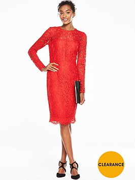v-by-very-long-sleeve-ladder-detail-lace-midinbspdress