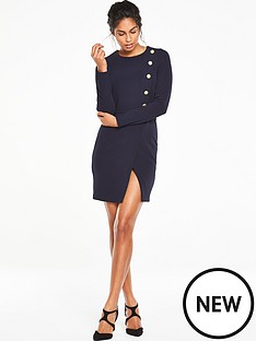 v-by-very-ponte-button-dress