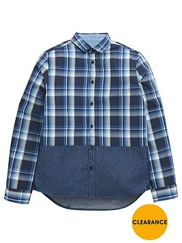 v-by-very-boys-check-and-chambray-panel-shirt