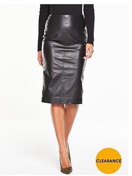 v-by-very-premiumnbspleather-pencil-skirt-black