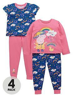 peppa-pig-girls-rainbow-pyjamas-4-pack