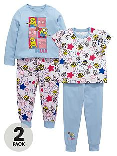 minions-girls-kevin-bob-and-stuart-pyjamas-2-pack