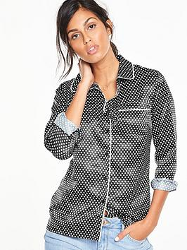 v-by-very-spot-print-pj-blouse