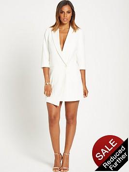 rochelle-humes-tuxedo-blazer-dress-white