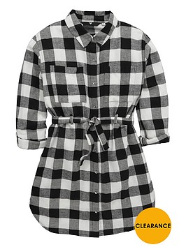 v-by-very-girls-black-checknbspshirt-dress-with-belt